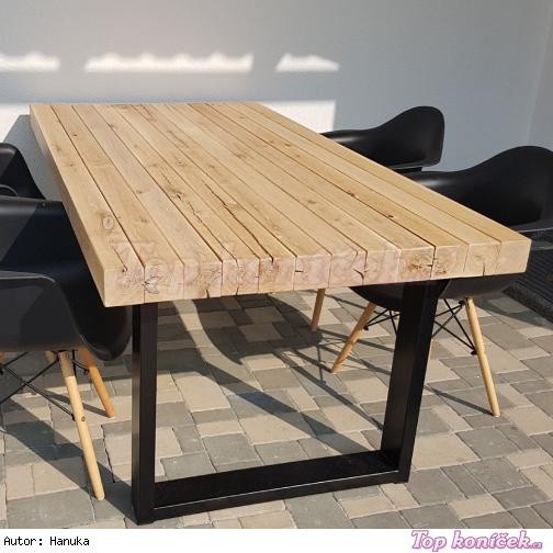 ... DIY výroba jídelního stolu s trámů